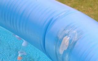 Чем быстро и надежно заклеить надувной бассейн в домашних условиях