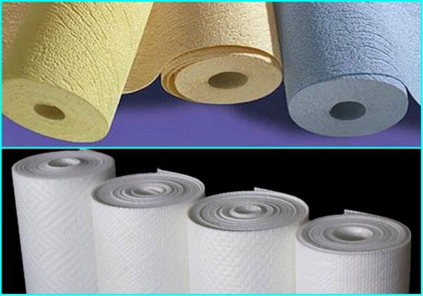 Флизелиновые обои, имеющие бумажную основу