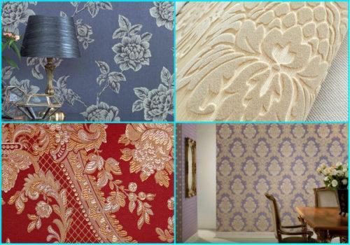 Варианты текстильных обоев