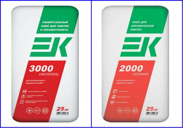Плиточный клей ЕК 2000