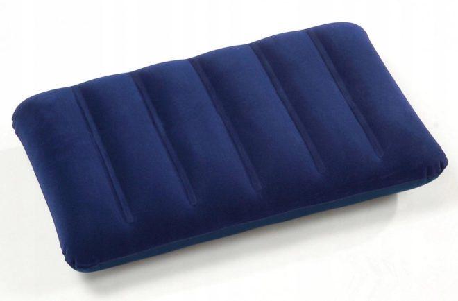 синяя надувная подушка intex